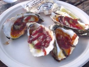 Barbecued Oysters, Bodega Bay