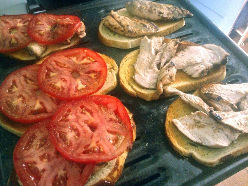 Open-Faced Chicken Caprese Sandwich