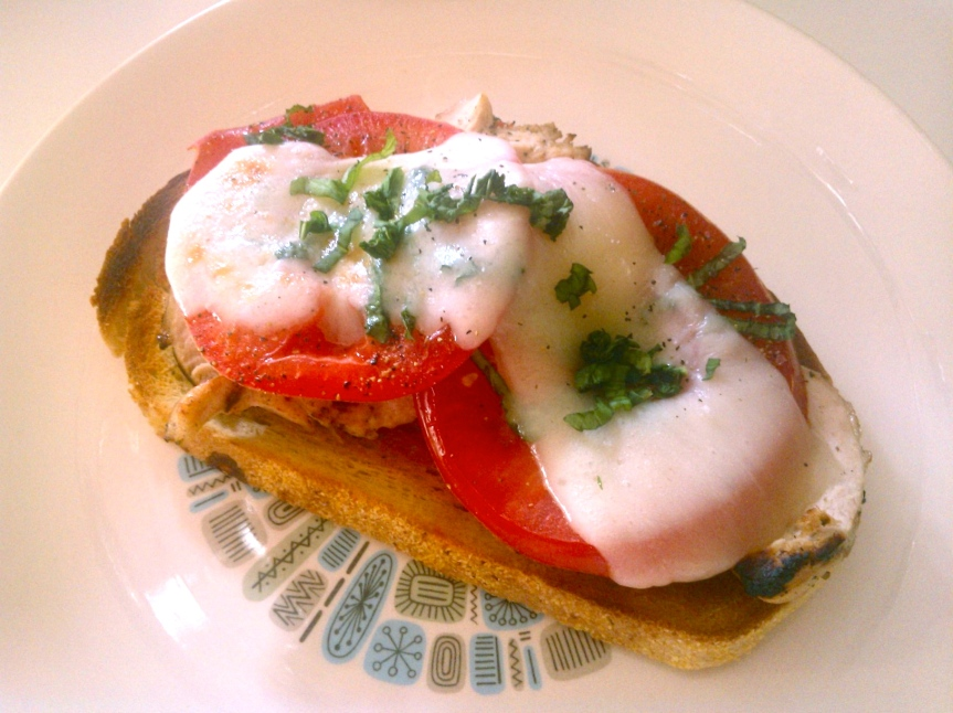 Open-Faced Chicken Caprese Sandwich