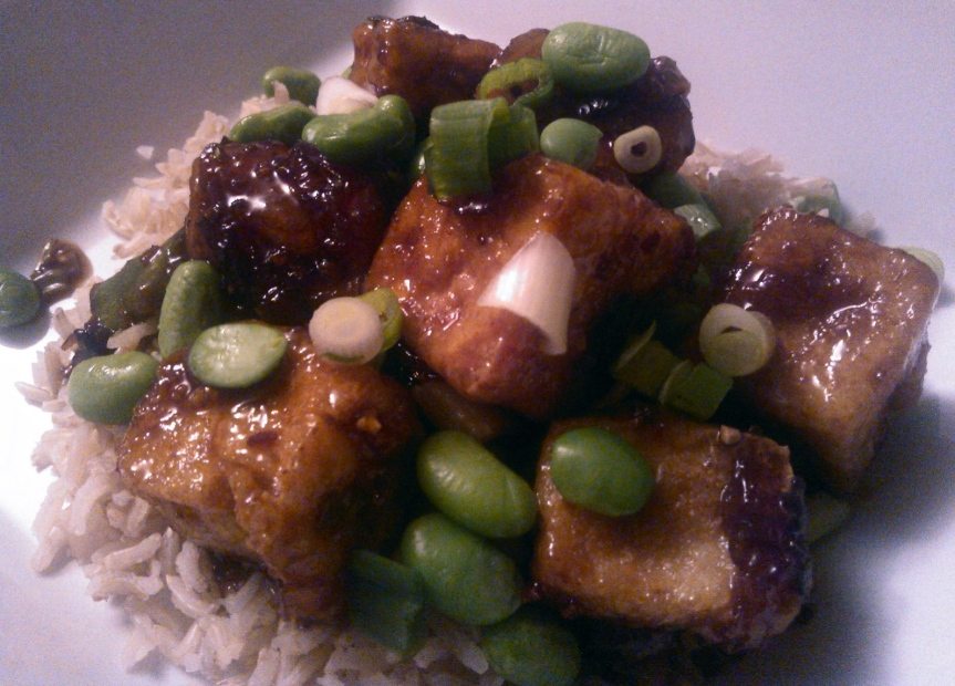 Yes, I dredged and fried my tofu