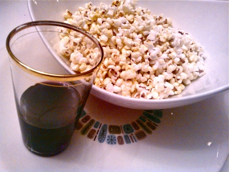Nutritional Yeast Popcorn and Red Wine