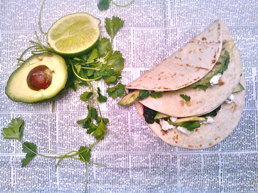 Black Bean + Avocado + Goat Cheese Tacos with a Hint of Honey-Lime