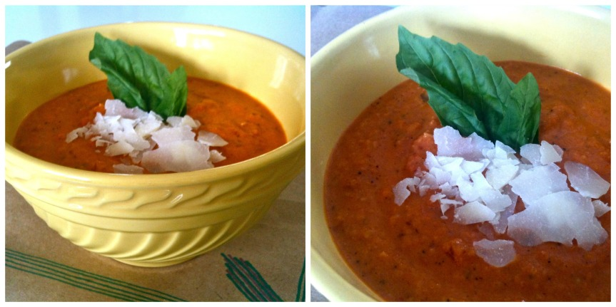 Roasted Red Pepper Asiago Soup