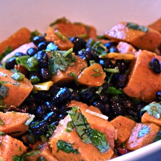 Black Beans with Sweet Potatoes