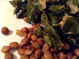 Gomen with Lentils