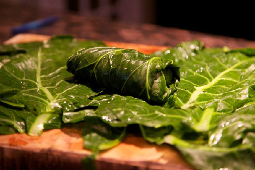 Stuffed Collard Greens with Quinoa and Legumes