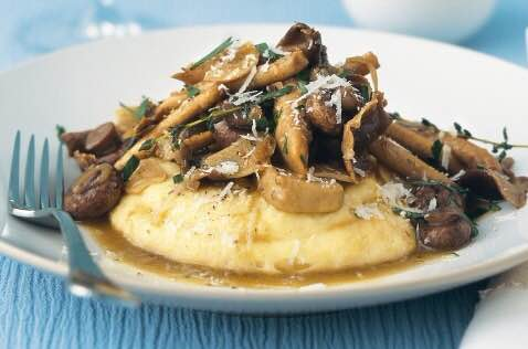 Creamy Polenta and Mushrooms