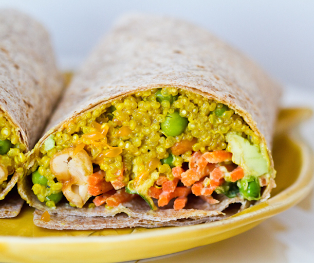 Curried-Quinoa-Wrap