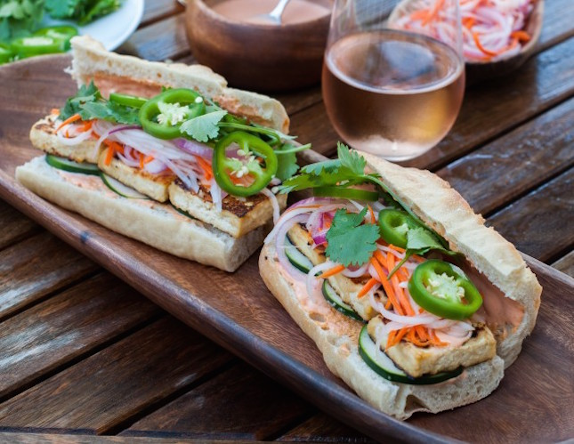 Vegetarian Bahn Mi with Sriracha Mayonnaise