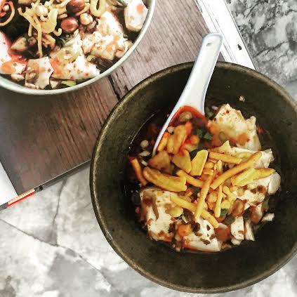Sour-And-Hot Silken Tofu