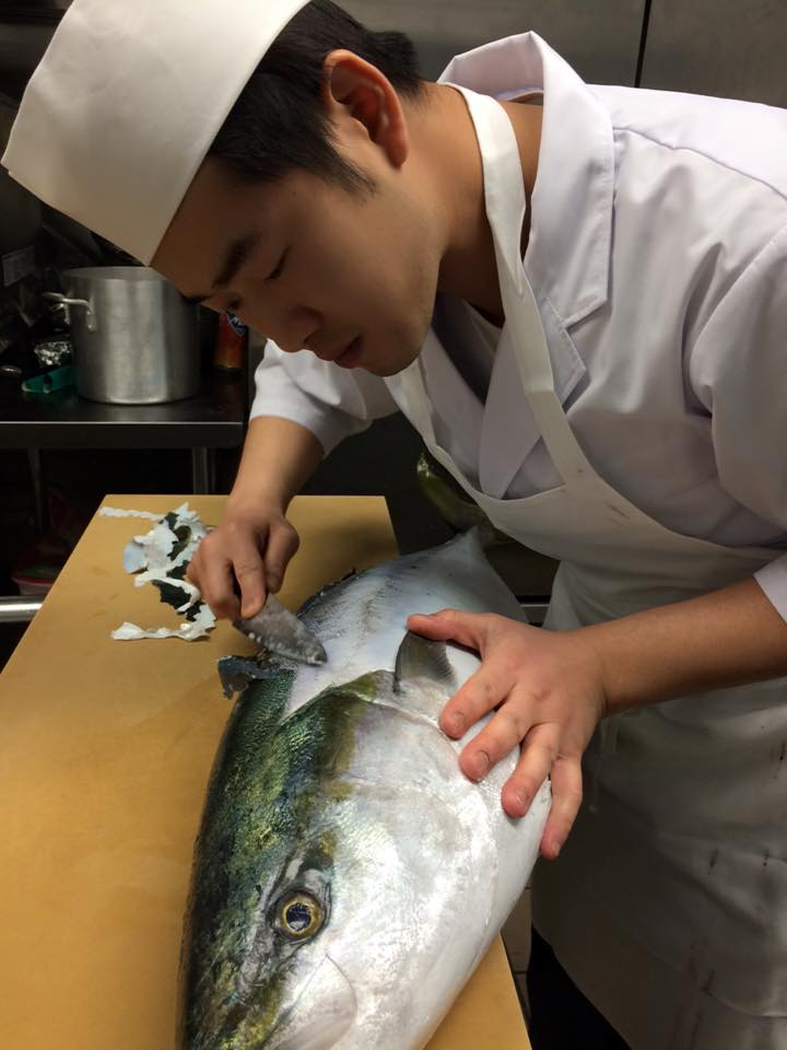 Shoushin prepping fish
