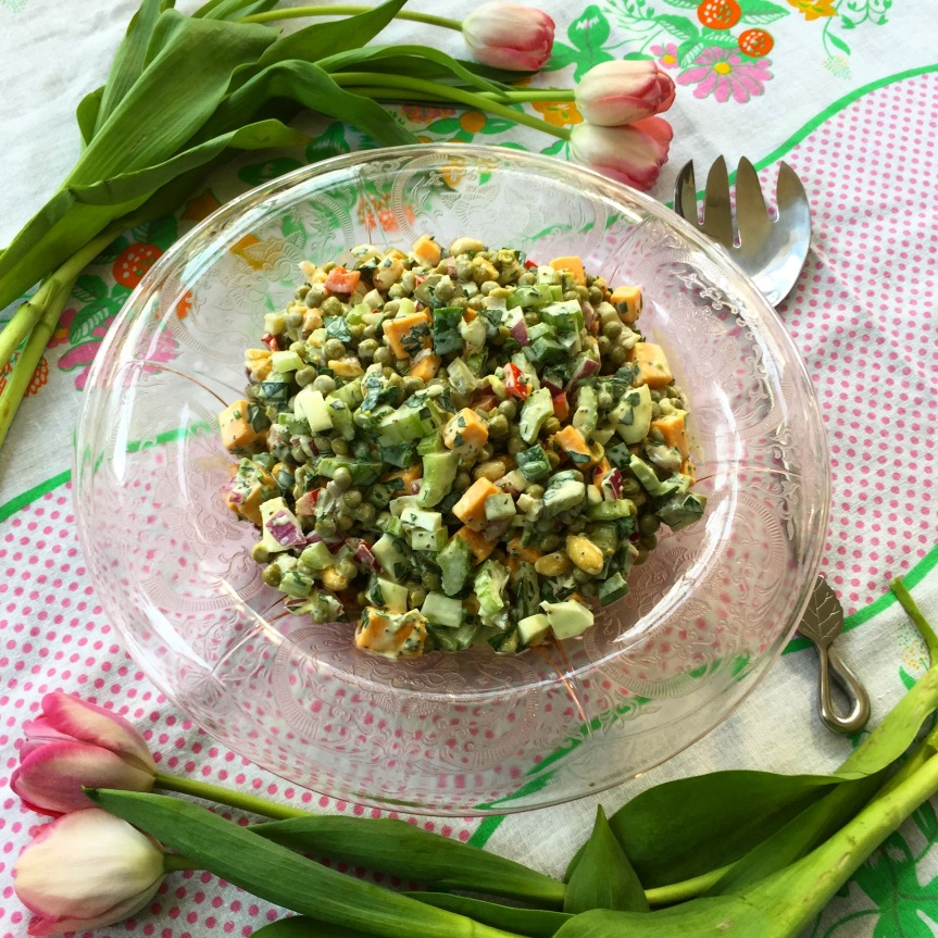Springtime Pea Salad From Quilt Country