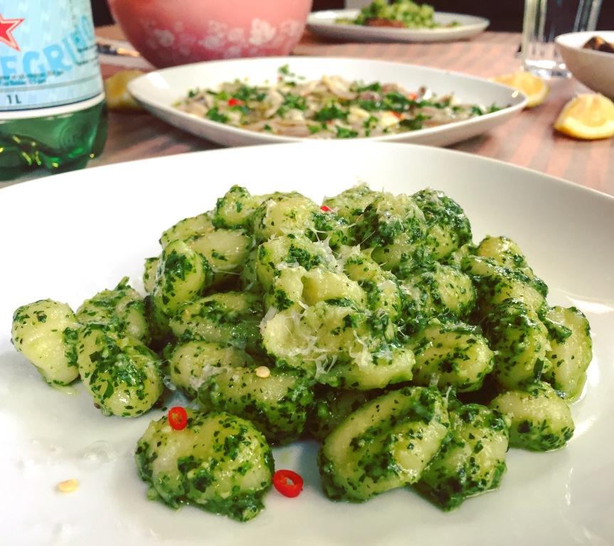 Pesto with Gnocchi