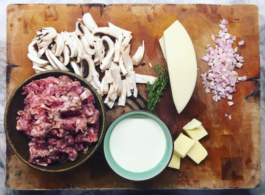 Prep Sausage Mushroom and Marsala Cream Sauce