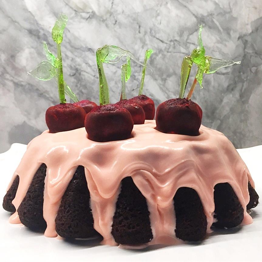 Cherry Bombe Cake