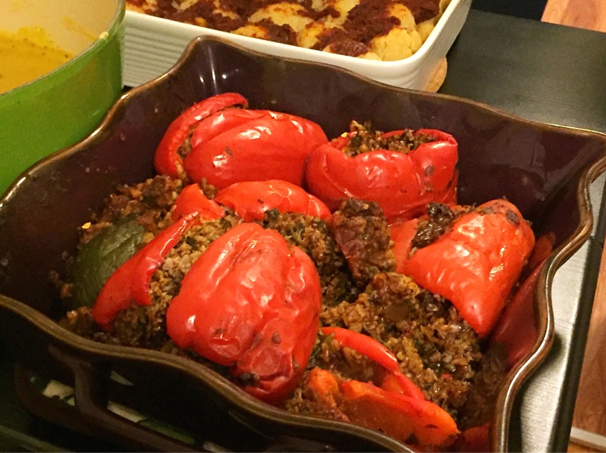 Lamb and Bulgur Stuffed Peppers