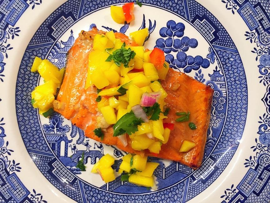 Wild Sockeye Salmon with Mango Salsa