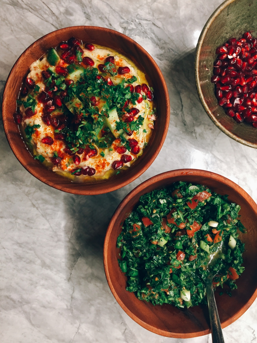 Baba Ganoush and Tabbouli