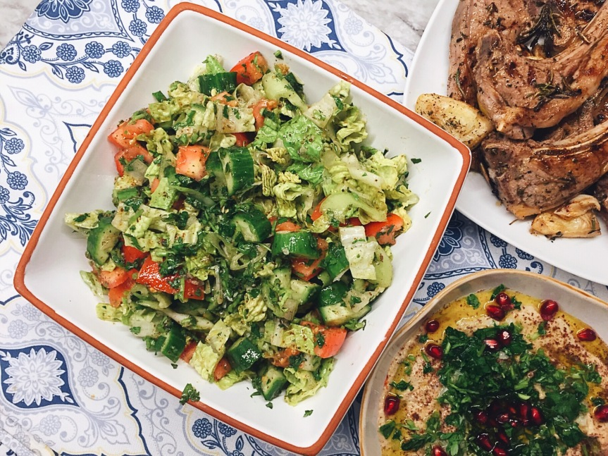 """Apple Cinnamon """"Cereal"""", Hard Boiled Eggs (with capers of course) and Grilled Lamb Chops, Baba Ganoush and Fattoush: Whole 30 DayEleven"""