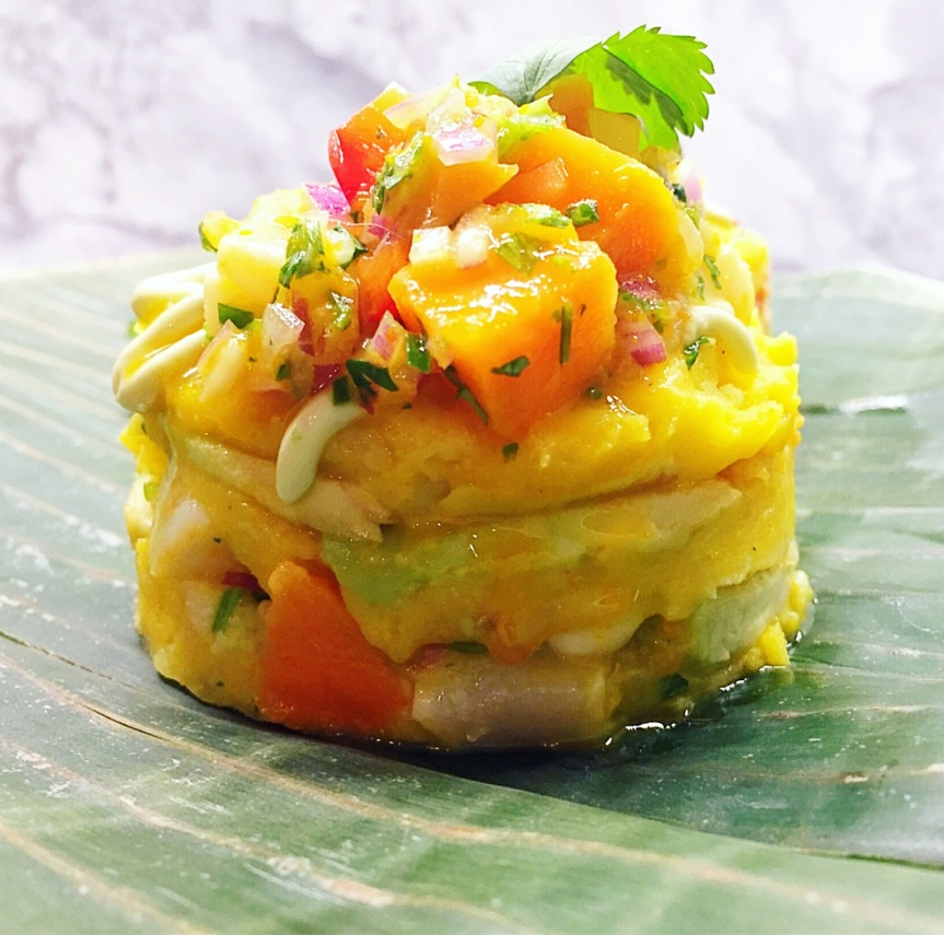 Causa Rellena with Scallop Ceviche